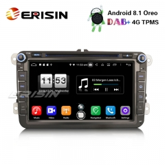 "Erisin ES7615V 8"" DAB+ Android 8.1 Car Stereo OPS DVD OBD For VW Passat Golf Tiguan Eos Seat Skoda"