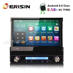 Erisin ES7808U 1 Din 7 inch Detachable DAB+ Android 8.0 Car Stereo DVD GPS WiFi TPMS DVR DTV BT OBD2 4G