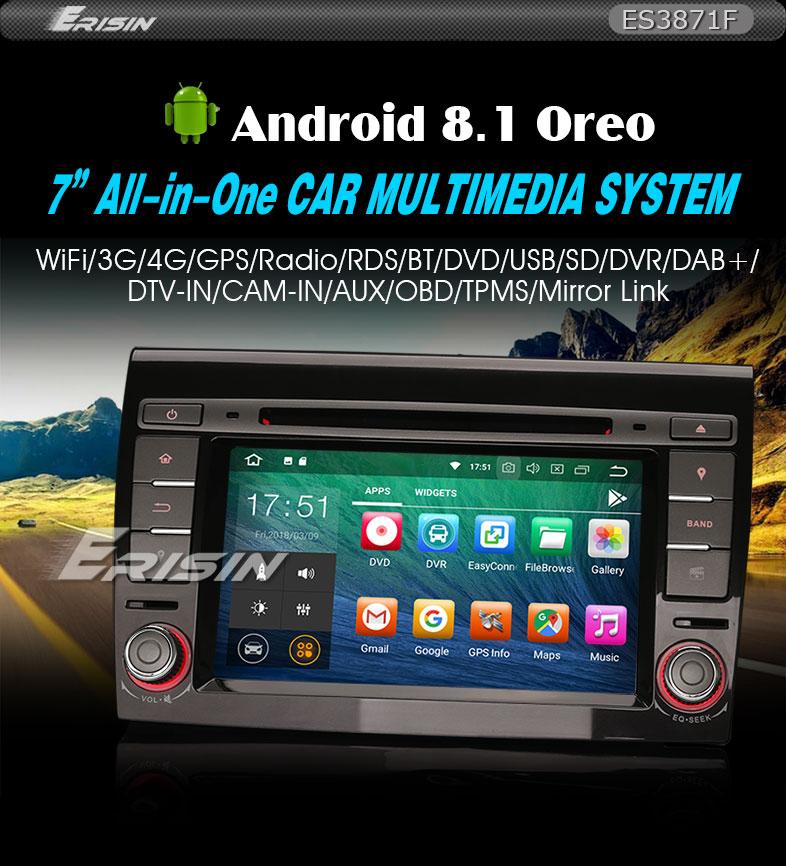 Mobile Porta Tv Con Audio Surround Integrato.Autoradio 7 Android 8 1 Dab Gps Wifi Cd Obd Bluetooth Tpms 4g