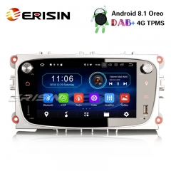 "Erisin ES3909FS 7"" Android 8.1 Car Stereo DAB+GPS DVR DTV 4G RDS for Ford Mondeo Focus S/C-Max Galaxy"