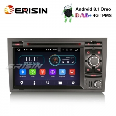 "Erisin ES3974A 7"" Android 8.1 Car Stereo GPS DAB+ CD Wifi 4G DVR SD for AUDI A4 S4 RS4 B9 B7 SEAT EXEO"