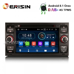 "Erisin ES3931FB 7"" DAB+Android 8.1 Car Stereo GPS OBD for Ford Focus Transit S/C-Max Kuga Galaxy Fusion"