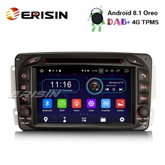 "Erisin ES3963C 7"" Android 8.1 Car Stereo GPS DAB+CD TPMS Mercedes C/CLK Class W203 W209 Vito Viano"