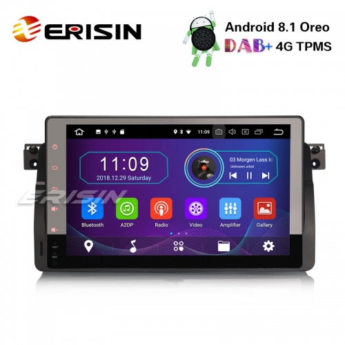 "Erisin ES3996B 9"" Android 8.1 Car Stereo GPS DAB+ BT for BMW 3 Series E46 M3 Rover75 MG ZT DVD DTV DVR"