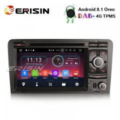 "Erisin ES3973A 7"" Android 8.1 Car Stereo DAB+ GPS TPMS DTV-IN BT CD Satnav for AUDI A3 S3 RS3 RNSE-PU"
