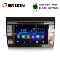 "Erisin ES3971F 7"" Android 8.1 Car Stereo DAB+ GPS WiFi CD OBD Bluetooth TPMS 4G for Fiat Bravo Satnav"