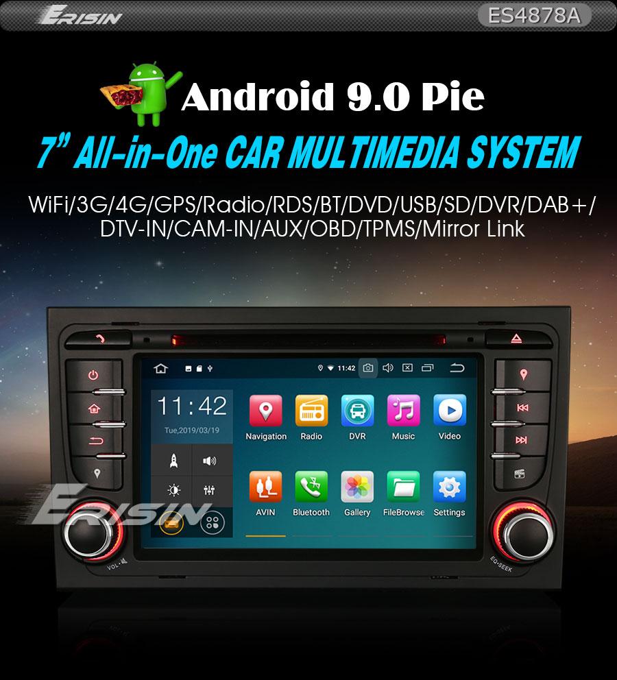 "Autoradio para Audi A4 B7 S4 RS4 RNS-E Seat Exeo WIFI 7/""Android 9.0 DAB+4G DVR"