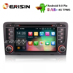 "Erisin ES4847A 7"" Android 9.0 Car Radio GPS DVR DAB+ DTV Bluetooth Wifi 4G for AUDI A3 S3 RS3 RNSE-PU"