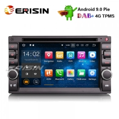 "Erisin ES4836U 6.2"" Nissan Double Din Android 9.0 Car Stereo GPS WiFi DAB+ DVR OBDII DTV BT TPMS DVD"