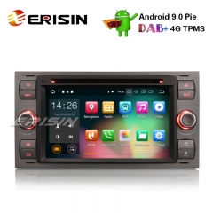 "Erisin ES4866F 7"" Android 9.0 Autoradio GPS DAB+ DVB-T2 DVD OBD For Ford Focus Kuga Transit Galaxy"