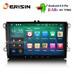 "Erisin ES4818V 9"" DAB+ Android 9.0 Car Stereo For VW Golf Passat Tiguan Polo Seat Skoda GPS OPS"