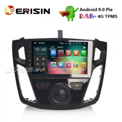 "Erisin ES4895F 9"" Ford Focus Android 9.0 Car Radio GPS DAB+ DVR WiFi OBD2 DTV Bluetooth Stereo 4G"