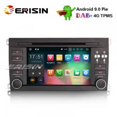 Erisin ES4897S Android 9.0 Car Stereo Radio GPS DAB+ BT 4G Wifi DVD TPMS SatNav for Porsche Cayenne