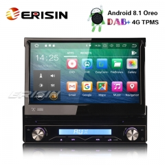 "Erisin ES3808U 7"" Android 8.1 Detachable Car Stereo DAB+DVR DVD GPS Bluetooth RDS WiFi DTV Sat Nav"