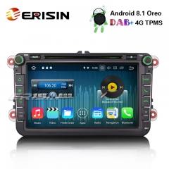 "Erisin ES3645V 8"" DAB+ Android 8.1 Car Stereo DVD GPS For VW Golf Passat Tiguan Polo Jetta Sat Nav SWC"