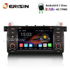 "Erisin ES3619B 7"" Android 8.1 Car Stereo DAB+GPS SatNav BMW 3 Series 318 320 E46 Rover 75 MG ZT CD"