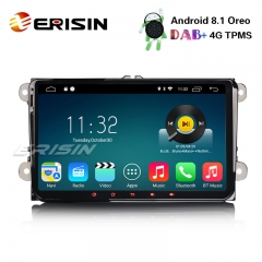 "Erisin ES3818V 9"" Android 8.1 DAB+ GPS Autoradio SWC for VW Passat Polo Golf 5 Tiguan Eos Skoda"