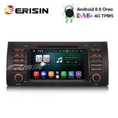 "Erisin ES7539B 7"" 8-Core Car Radio DVD GPS DTV DAB+BT OBD2 Android 8.0 for BMW 5 Series E39 E53 X5 M5"