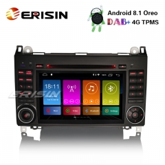 "Erisin ES2872B 7"" Android 8.1 Autoradio DAB+4G Car DVD GPS Navi for Mercedes A/B Klasse W169 Viano Sprinter Vito"