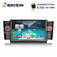 "Erisin ES7523L 7"" 8-core DAB+ Android 8.0 Autoradio GPS Bluetooth SWC Wifi 4G for Fiat Punto Linea"
