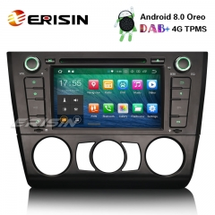 "Erisin ES7840B 7"" Octa-Core Car Stereo Android 8.0 DAB+ 4G DVD GPS for BMW 1 Serie E81 Hatchback E82 E88"