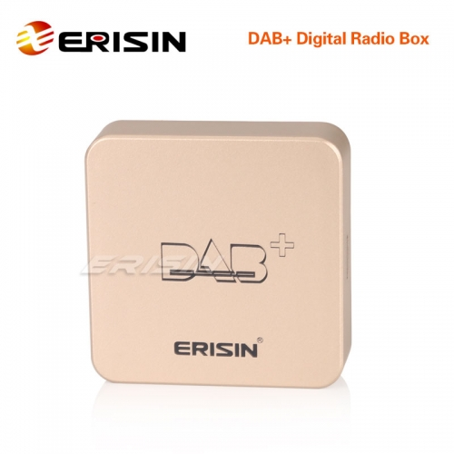 Erisin ES364 DAB+ Box antena de radio digital amplificada para Android 6.0 to Android 10.0 Autoradios