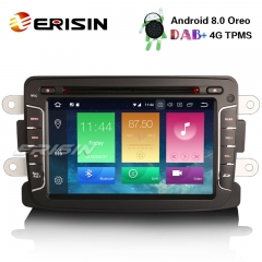 "Erisin ES7429D 7"" Android 8.0 Car Stereo DAB+4G GPS CD BT Renault Captur Dacia Duster Lodgy Dokker"