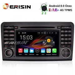 "Erisin ES8861L 7"" DAB+ Android 8.0 GPS Car Stereo DVD Wifi Mercedes ML/GL Class W164 X164 Satnav BT"
