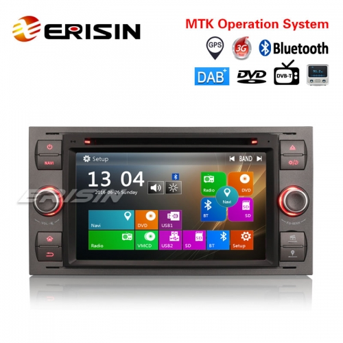 "Erisin ES7166F 7"" Car Stereo GPS DAB+DVR CD BT DTV-IN Ford C/S-Max Mondeo Kuga Focus Fiesta Fusion"
