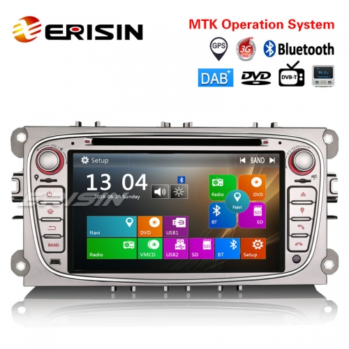 "Erisin ES7189F 7"" Car Stereo GPS DAB+DVR DTV-IN CD USB BT SD For FORD FOCUS C/S-MAX MONDEO GALAXY"