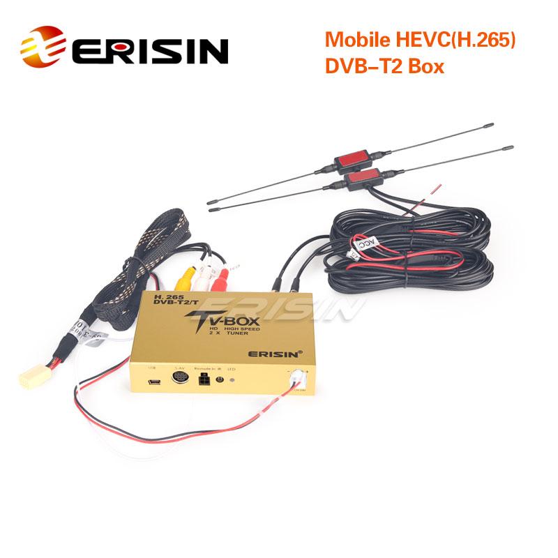 ES338-KB Car Mobile HDTV DVB-T2 Receiver HEVC H.265 H.264 HDMI USB 160km//h