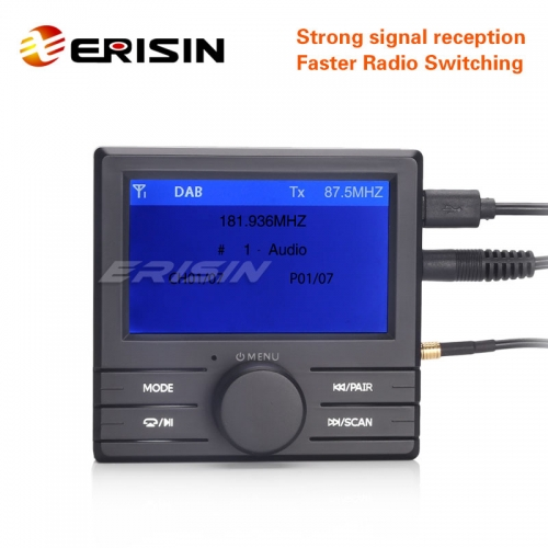 Erisin ES363 DAB+ Digital Radio Box TFT LCD Display A2DP Bluetooth FM Amplified Aerial for 7147/7148/7160/7161/7162/7166/8115/7189/7378/7270