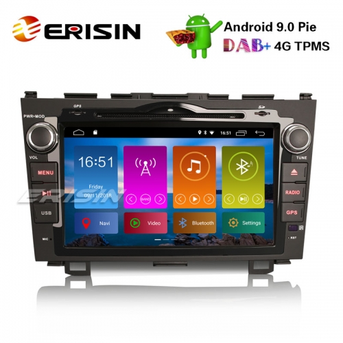 "Erisin ES2959H 8"" Android 9.0 Autoradio DAB+ Car DVD Player GPS  Navi CD Wifi SWC TPMS DVB-T2 HONDA CR-V 2006-11"