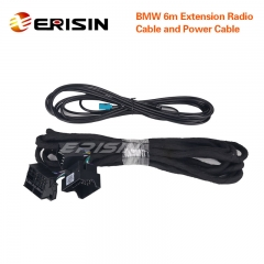 Erisin LMBM6-N BMW 6m Extension Power & Radio Cable for ES7161B/ES7162B/ES7862B/ES7802B/ES7803B
