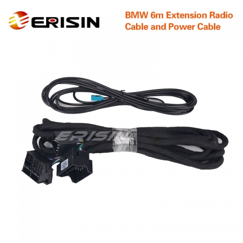 Erisin LMBM6-N BMW 6m Extension Power & Radio Cable for ES8139B/ES8146B/ES6946B/ES3003B/ES3153B/ES8788B