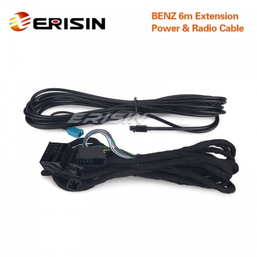 Erisin LMBENZ-6M Extension Radio & Power Cable for Benz E7980E/ES4880E/ES8180E/ES5180E/ES5980E/ES8710E/ES4281E/ES6980E
