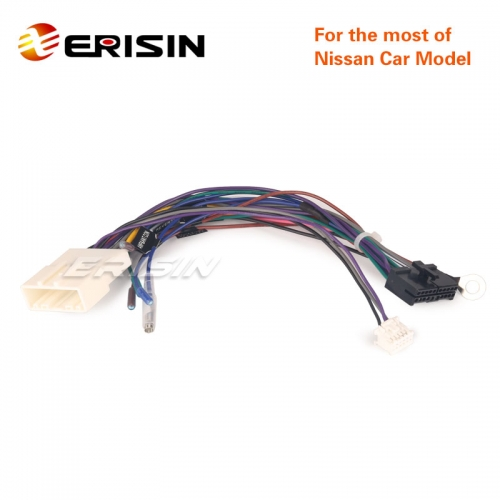 Erisin Nissan-Cable-A1 Universal Car Connect Power Cable for Nissan ES7836U ES7936-64