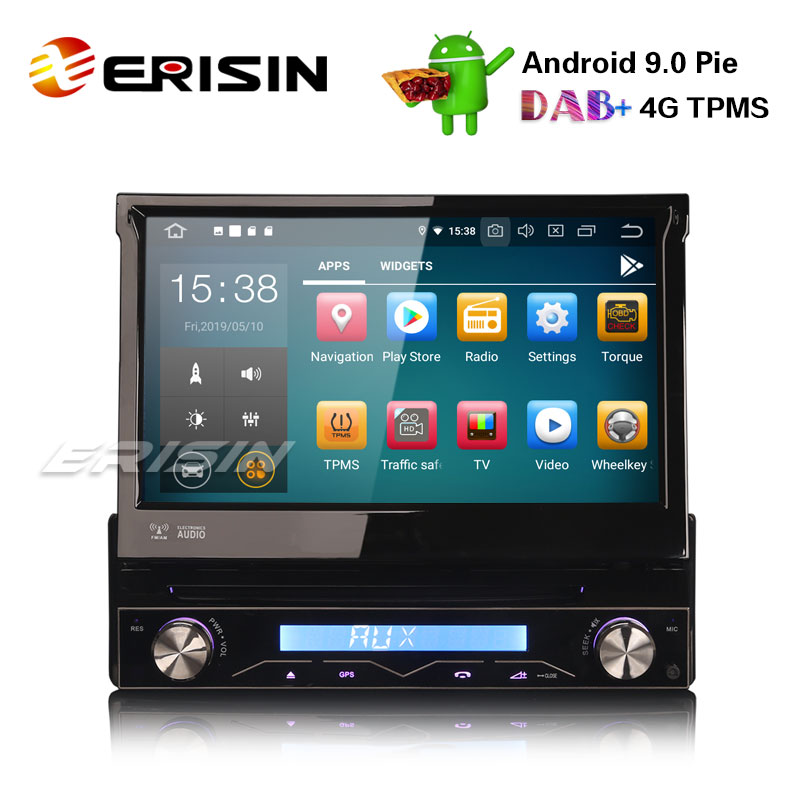 """What Does Tpms Mean >> Erisin ES7908U-64 7"""" 1 Din Detachable DAB+Android 9.0 Car Stereo DVD GPS WiFi TPMS DVR DTV BT ..."""