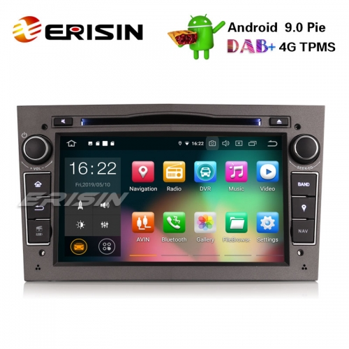 "Erisin ES7960PG-64 7"" Android 9.0 Opel Vauxhall Vextra Astra Corsa Car Stereo DVD DAB+ GPS Wifi OBD"