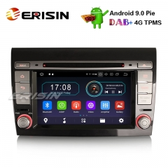 "Erisin ES4971F 7"" Android 9.0 Autoradio GPS DAB+ WiFi OBD2 TPMS 4G DTV CD Bluetooth for Fiat Bravo"