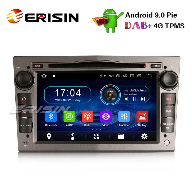 Erisin Android 9.0 Car Stereo for Opel Vauxhall Corsa Vectra Zafira B Astra Vivaro 7 Inch HD Head Unit Car Radio Multimedia Player Support Wifi Bluetooth GPS Navigation Mirror Link DAB TPMS