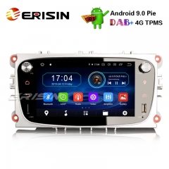 "Erisin ES4909FS 7"" Android 9.0 Ford Car DVD Player GPS DAB+ Radio 4G OBD Wifi TPMS System"