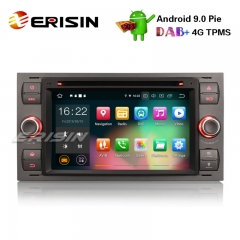 "Erisin ES7966F 7"" Android 9.0 Car Stereo GPS DAB+DVR BT CD FORD C/S-MAX FIESTA FUSION MONDEO GALAXY"