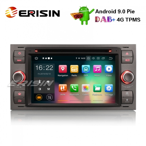 "Erisin ES7966F-64 7"" Android 9.0 Car Stereo GPS DAB+DVR BT CD FORD C/S-MAX FIESTA FUSION MONDEO GALAXY"