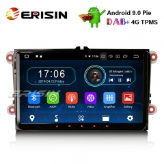 "Erisin ES8901V 9"" Android 9.0 Pie DAB+ OPS Car Stereo GPS For VW Golf Passat Tiguan Polo Seat"