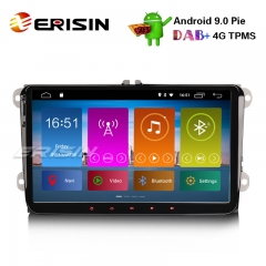 "Erisin ES2991V 9"" DAB+ Android 9.0 For VW Passat Golf 5/6 Tiguan Eos Polo Jetta OPS Car Stereo"