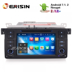 "Erisin ES3762B 7"" Android 7.1 BMW E46 Car GPS Navigation DVD Radio Sat"