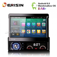 "Erisin ES5790U 7"" 1 Din Android 6.0 Car Radio 4G DVD Player GPS System"