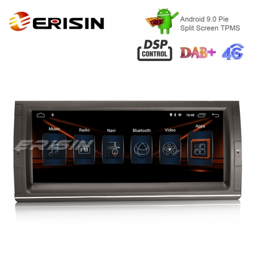 "Erisin ES2903B 10.25"" Android 9.0 Car Stereo GPS Wifi DSP for BMW 5er E39 E53 X5 M5 Sat Nav TPMS/DAB-IN"