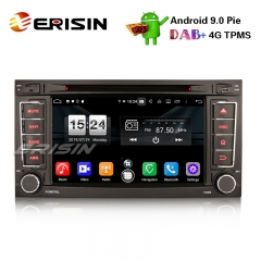 "Erisin ES7706T 7"" Android 9.0 Car Stereo DAB+ DVD GPS BT Wifi DVD OBD for VW Touareg"